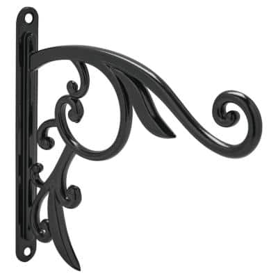 9 in. Black Iron Decorative Plant Bracket