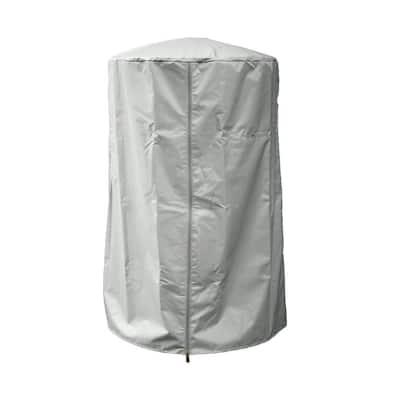 38 in. Heavy Duty Silver Portable Patio Heater Cover