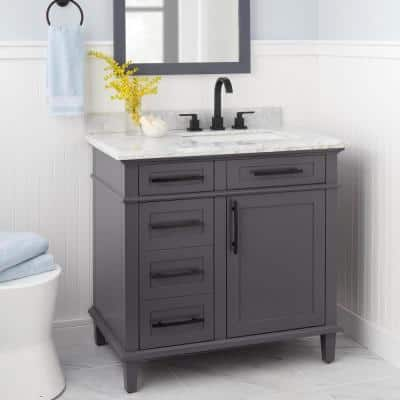 Farrington 8 in. Widespread 2-Handle High-Arc Bathroom Faucet in Matte Black