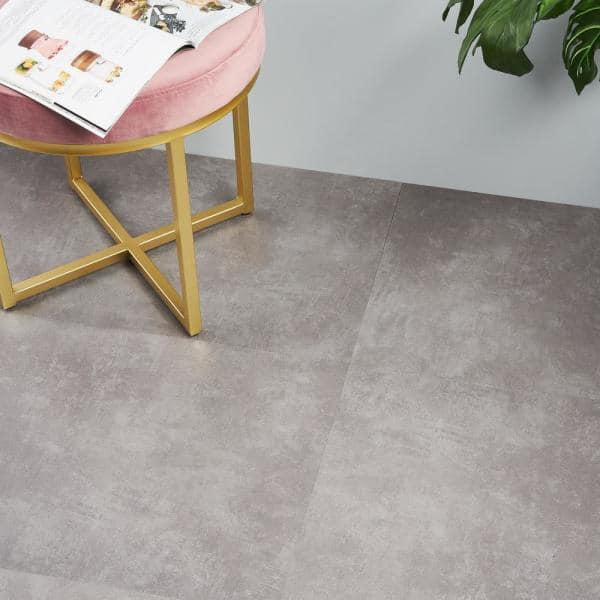 Ivy Hill Tile Duren 28mil Concreto Grafito 18 In X 36 In Glue Down Luxury Vinyl Tile Flooring 36 Sq Ft Ext3rd105485 The Home Depot