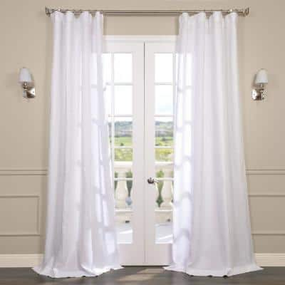 Purity White Solid Rod Pocket Sheer Curtain - 50 in. W x 120 in. L