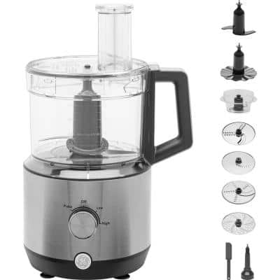 12-Cup 3-Speed Stainless Steel Food Processor