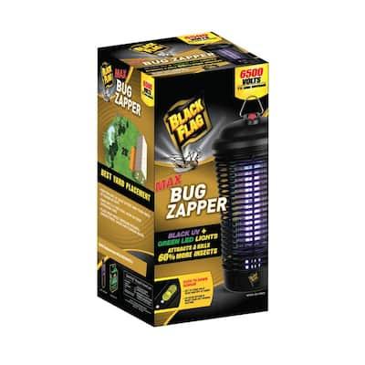 6500-Volt 40-Watt Max Bug Zapper Insect Killer with Black UV light and Green LED lights