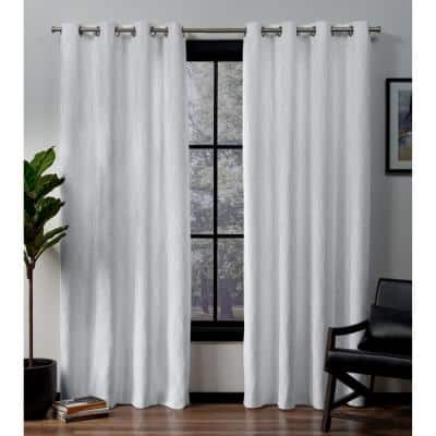 Winter Floral Thermal Blackout Curtain - 52 in. W x 84 in. L (Set of 2)