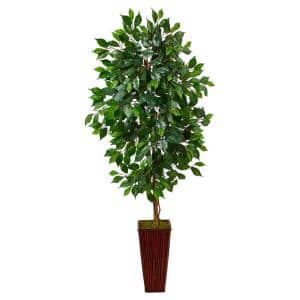 5ft. Ficus Artificial Tree in Bamboo Planter