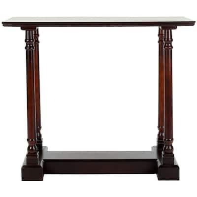 Regan 38 in. Dark Cherry Standard Rectangle Wood Console Table