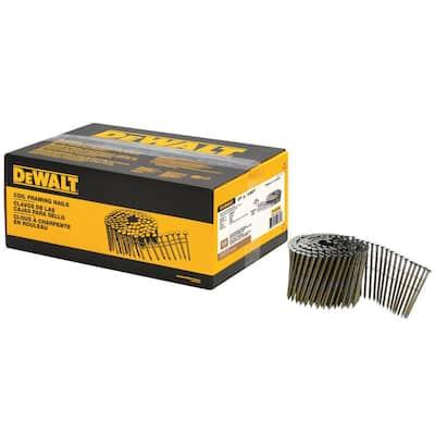 3 in. x 0.120 in. Metal Coil Nails (2700 per Box)