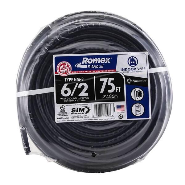 ROMEX HOUSE WIRE 30/' 6-2 6//2 WITH GROUND W//GR NM-B