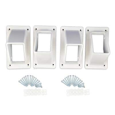 Naples White Stair Railing Bracket Kit (4-Piece)
