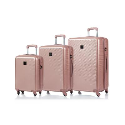 CHAMPS Iconic 28 in.,24 in., 20 in. RoseGold Hardside Luggage Set with Spinner Wheels (3-Piece)