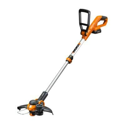 POWER SHARE 20-Volt Li-Ion 12in. Cordless Battery String Trimmer & Edger, Orange/Black(Battery & Quick Charger Included)