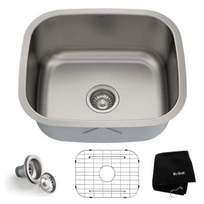 Premier Undermount Stainless Steel 20 in. Single Bowl Kitchen Sink