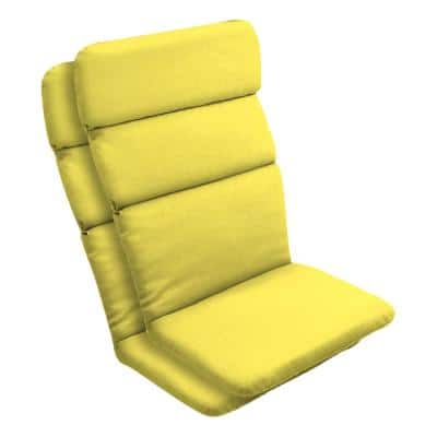 20 in. x 28.5 in. Outdoor Adirondack Chair Cushion in Lemon Leala Texture (2-Pack)