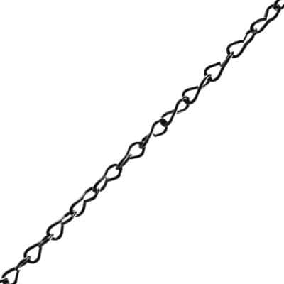 #14 x 1 ft. Steel Jack Chain, Black