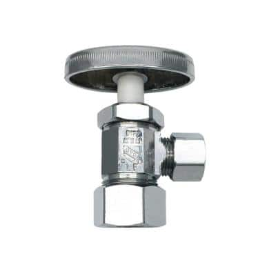 5/8 in. O.D. Compression Inlet x 3/8 in. O.D. Compression Outlet Multi-Turn Angle Valve