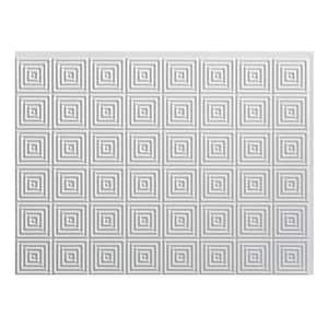 Miniquattro 18.25 in. x 24.25 in. Vinyl Backsplash Panel in Gloss White (5-Pack)