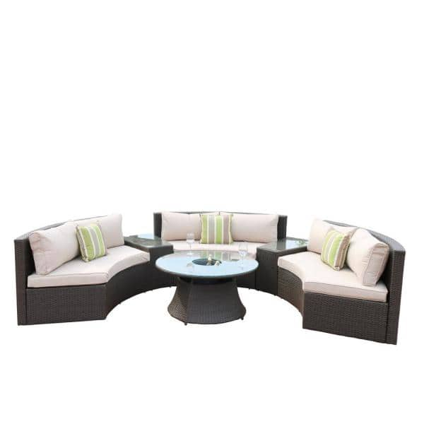 Half Circle Outdoor Couch Off 71, Half Circle Patio Furniture