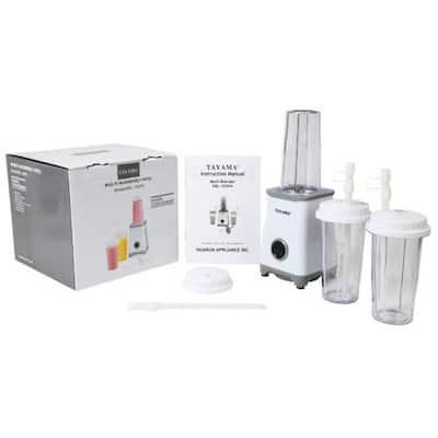 Three 350 ml Multi-Blender 15-Piece Set in White