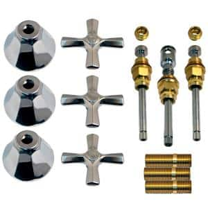 Tub and Shower Rebuild Kit for Union Brass 3-Handle Faucets