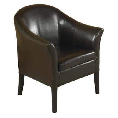 1404 Brown Leather Club Chair