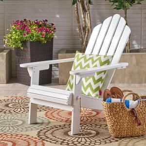 Hollywood White Folding Wood Adirondack Chair