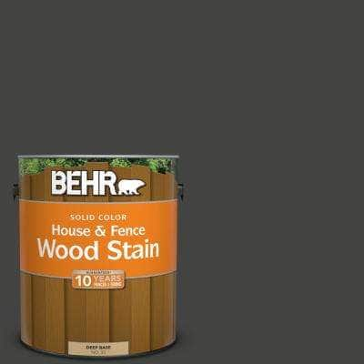 1 Gal. #SC-102 Slate Solid Color House and Fence Exterior Wood Stain