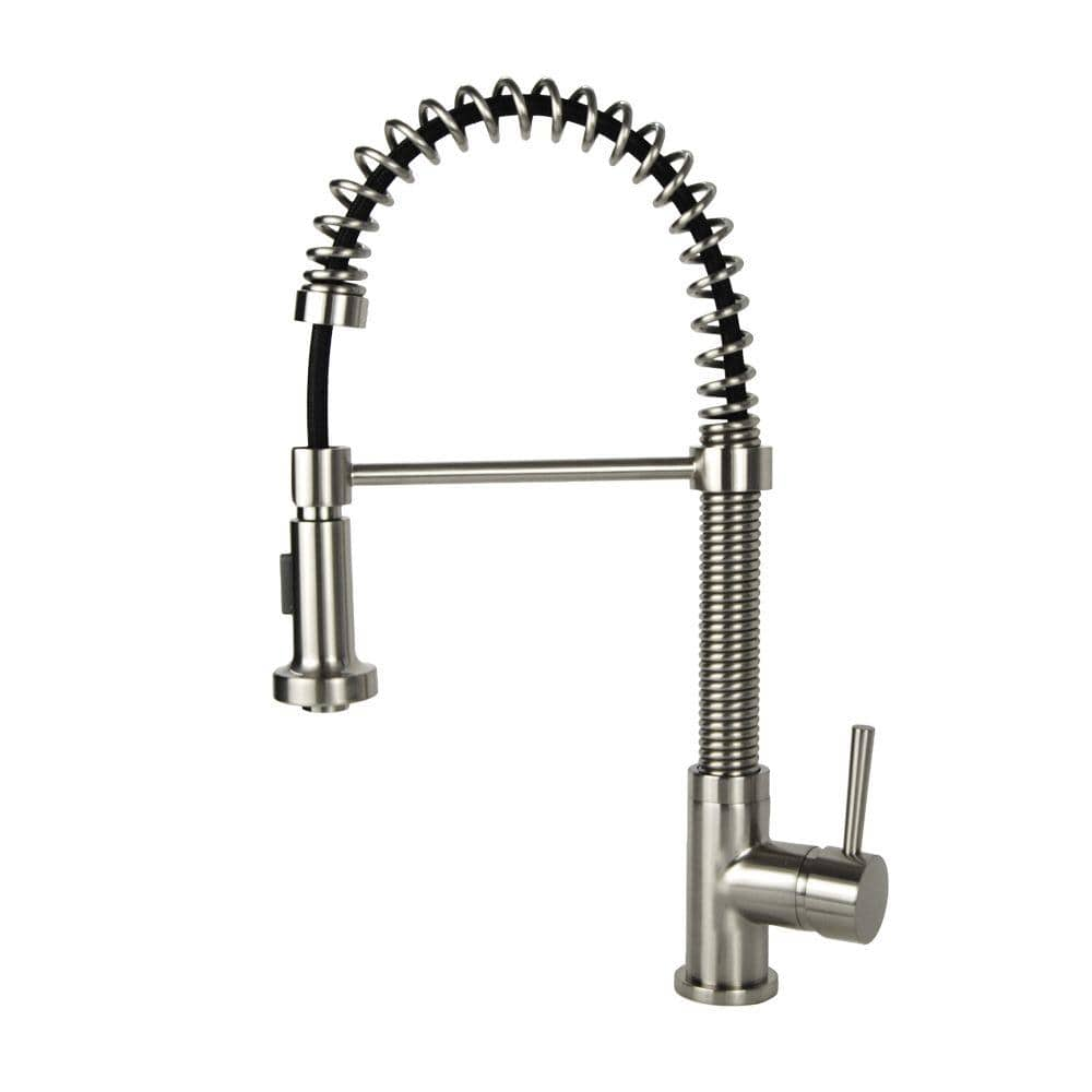 Single Handle Pull Down Sprayer Kitchen Faucet In Brushed Nickel N88503b2 Bn The Home Depot