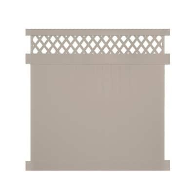 Ashton 7 ft. H x 8 ft. W Khaki Vinyl Privacy Fence Panel Kit