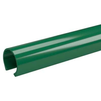 1-1/4 in. x 3.33 ft. Green PVC Pipe Clamp Material Snap Clamp (2-Pack)