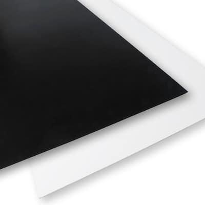 24 in x 48 in x 0.118 in. Black/White Foam PVC (4-Pack)