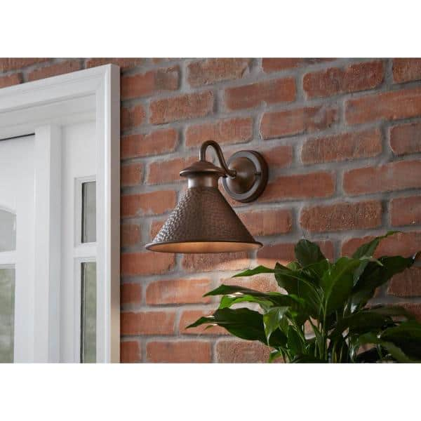 Home Decorators Collection Essen 1 Light Antique Copper Outdoor Wall Lantern Sconce Hbwi9003s86a The Home Depot