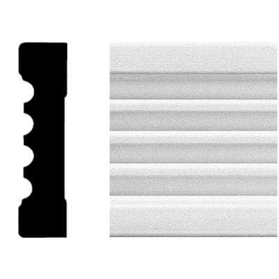 3/4 in. x 3 in. x 8 ft. MDF Fluted Casing Moulding