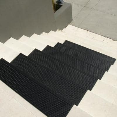 Coin-Grip Commercial 10 in. x 36 in. Rubber Step Mat (6-Pack)