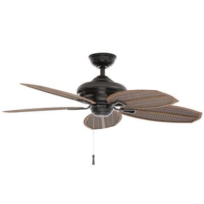 Palm Beach II 48 in. Indoor/Outdoor Natural Iron Ceiling Fan