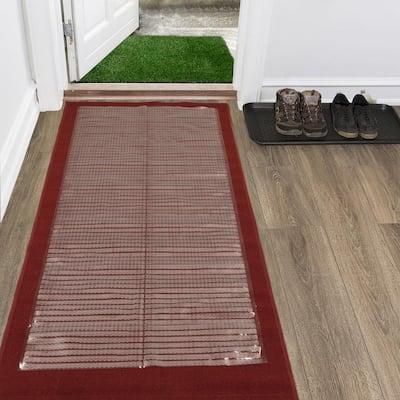 Clear 2 ft. 2 in. x 10 ft. Vinyl Carpet Protector Runner Mat