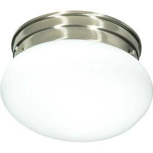 Tony 1-Light Brushed Nickel Flush Mount