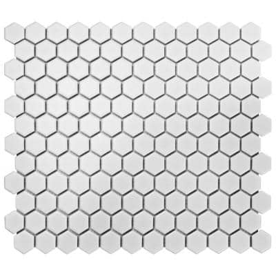 Take Home Tile Sample - Metro Hex Matte White 6 in x 6 Porcelain