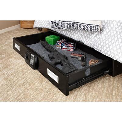 Large Under Bed Safe 40 in. W x 6 in. H x 22 in. D with Digital Lock