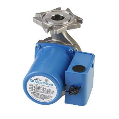 4-Bolt Flange 3-Speed Stainless Circulator with Built-In Check Valve