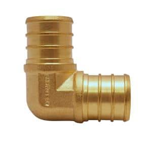 3/4 in. Brass PEX Barb 90 Elbow (10-Pack)