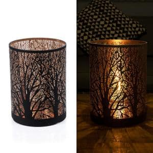 Indoor/Outdoor Branching Tree Decor with Warm White Tungsten Lights and Timer