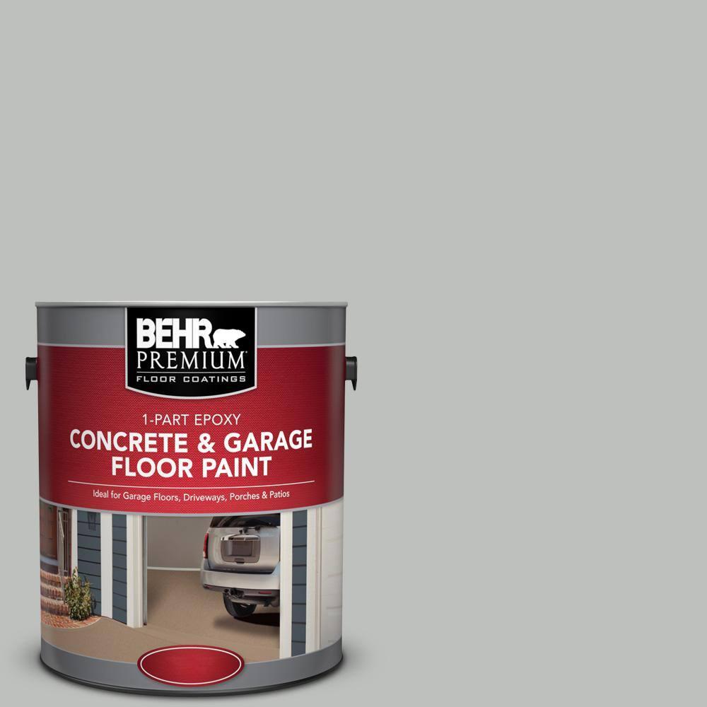BEHR Premium 1 gal. #PFC-62 Pacific Fog 1-Part Epoxy Satin Interior/Exterior Concrete and Garage Floor Paint