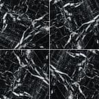Nero Marquina 12 in. x 12 in. Polished Marble Floor and Wall Tile (5 sq. ft./case)