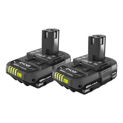 ONE+ 18V Lithium-Ion 2.0 Ah Compact Battery (2-Pack)