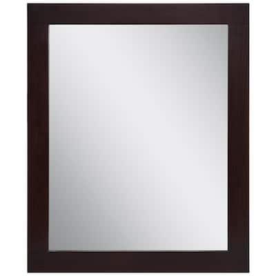 Westcourt 26 in. W x 31 in. H Framed Wall Mirror in Chocolate