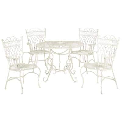 White Wrought Iron Patio Dining, White Rod Iron Outdoor Furniture