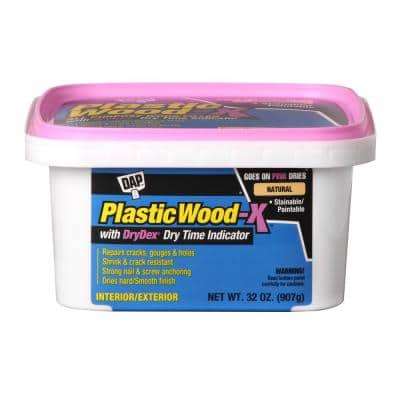 Plastic Wood-X with DryDex QT All Purpose Wood Filler (4-Pack)