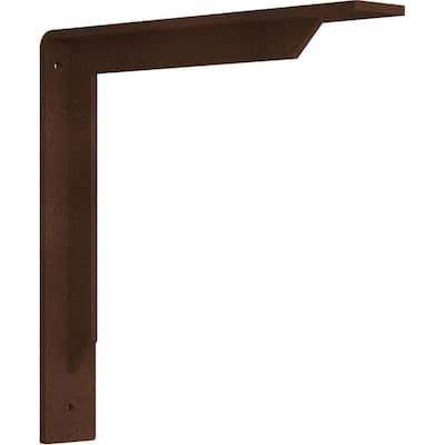 2 in. x 12 in. x 12 in. Steel Hammered Copper Stockport Bracket