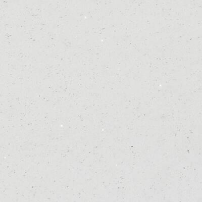 4 in. x 4 in. Quartz Countertop Sample in Stellar White