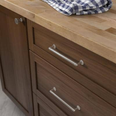 Foundations 6-5/16 in. (160mm) Center-to-Center Satin Nickel Drawer Pull